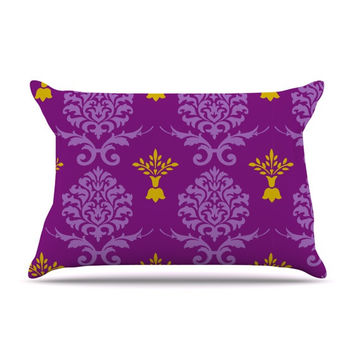 "Nicole Ketchum ""Purple Crowns"" Pillow Sham"