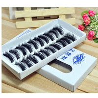 10 Pair Thick Long False Eyelashes Eyelash Eye Lashes Voluminous Makeup (Color: Black) = 1917038148