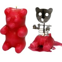 Melting Bear Skeleton Candle