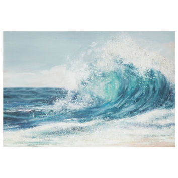 Textured Ocean Canvas Wall Decor | Hobby Lobby | 1650621