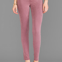 J Brand French Sateen Midrise Skinny in Imperial