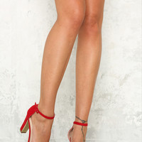 HELLO MOLLY Champagne Dreams Heels Red