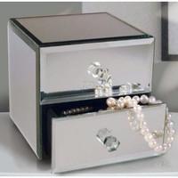 Allure by Jay Mirror Jewelry Box with 2-Drawers