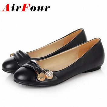 AirFour Women Fashion Flat Shoes Large Size 34-47 Female Ballet Shoes Women Flats Casu