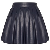 alice + olivia | BOX PLEAT LEATHER SKIRT
