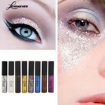 LEARNEVER Glitter Eyeliner Pencil Pen Shining Liquid Eyeliner Waterproof Eye Pencil Make Up Cosmetics Eye Liner Beauty M03383