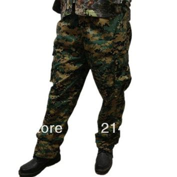 Jungle Camo Cotton Fleece Windproof Hunting Hunter Clothes Pants Camouflage