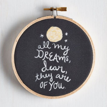 Dorm Decor To the Moon and Back Hoop Art by ModCloth