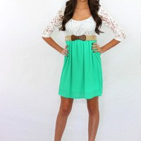 The Sunday Brunch Lace Top Dress