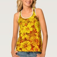 Colorful flower pattern tank top