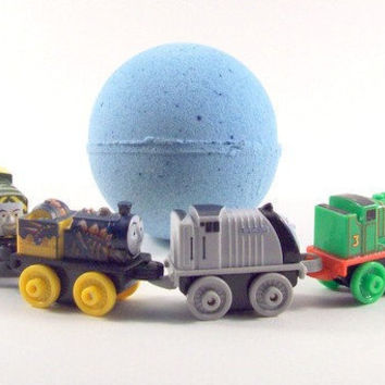 Bath Bombs For Kids, Thomas the Train, Blue Bath Bombs, Calming Bath Bombs, Gifts for Kids, Bath Toys, Bath Time Toys, Lavender, Toys, Vegan