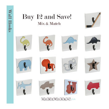 BUNDLE PURCHASE for 12 Wall HOOKS