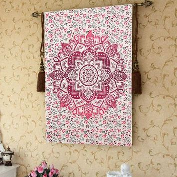 DCCKJG2 Newest!!!Beach Towel Yoga Mat Blanket Table Cloth Bohemia Indian Tapestry Bedspread Wall Hanging Bohemian Ethnic  Decor