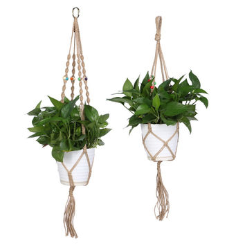 #Cu3 Plant Hanger Flowerpot Holder Gardenpot Lifting Rope String Bonsai Garden Pots Hanging Rope Garden Supplies
