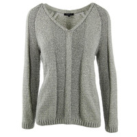 Lafayette 148 Womens Knit Ribbed Trim Pullover Sweater