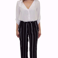 Love For Retro Pinstriped Pant