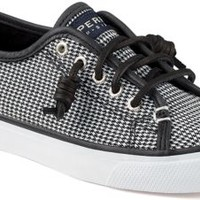 Sperry Top-Sider Seacoast Houndstooth Sneaker Black, Size 7.5M  Women's Shoes