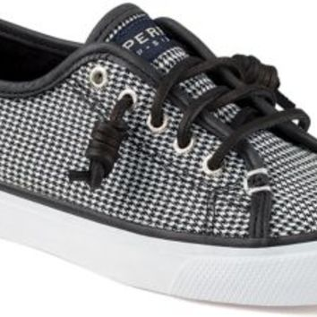 Sperry Top-Sider Seacoast Houndstooth Sneaker Black, Size 6.5M  Women's Shoes