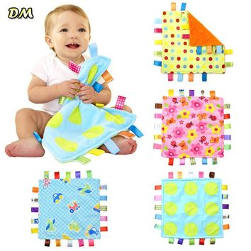 Baby Comforting taggies Blanket 30x30cm Soft Square Plush Baby Appease Towel for 0-3 Years Old Babies