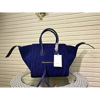 CELINE WOMEN'S SUEDE LEATHER TOTE BAG HANDBAG