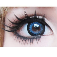 geo bella (xtra) blue  Circle Lens Cosmetic Big Eye Colored Contacts Lenses | EyeCandy's