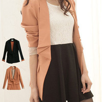 Folded Lapel Stunning Blazer - Mexy  - New fashion clothing & accessories for smaller size women like you - Mexy Shop