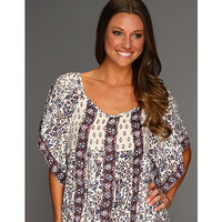 Free People Mixed It Up Printed Textured Top