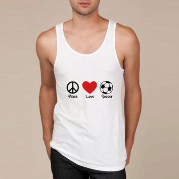 peace love and soccer Tank Top