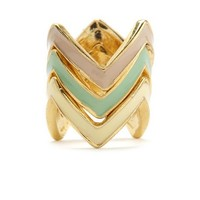 STACKED CHEVRON RING SET