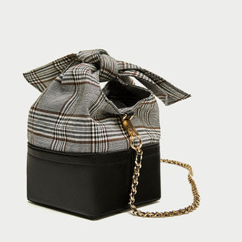 CROSSBODY BAG WITH CHECKED BOW - View all-BAGS-WOMAN | ZARA United States