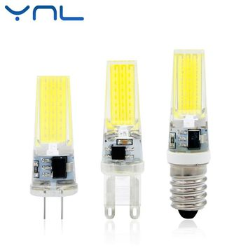 YNL New LED Lamp G4 G9 E14 AC / DC 12V 220V 3W 6W 9W COB LED G4 G9 Bulb Dimmable for Crystal Chandelier Lights