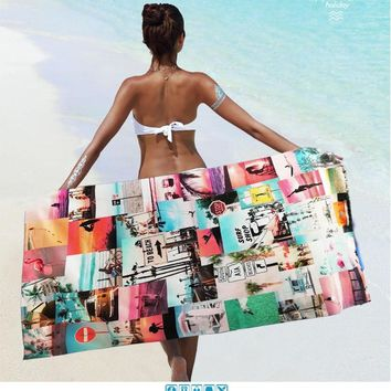Microfiber Compact Beach Towel  Swimming Camouflage Towel Bath Holiday Quick Drying 160*85 CM  Summer Travel  Towel