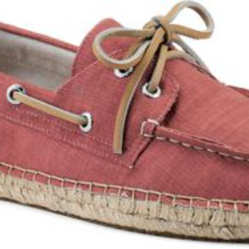 Sperry Top-Sider Canvas 2-Eye Espadrille RedCanvas, Size 9.5M  Men's Shoes