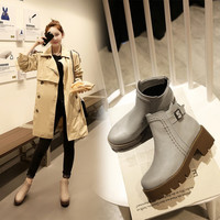 Hot Deal On Sale Winter Vintage With Heel Zippers Plus Size Boots [6366200708]