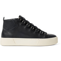 Balenciaga - Arena Full-Grain Leather High-Top Sneakers
