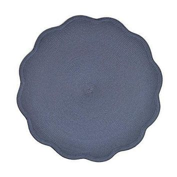 "16"" Round Scallop Placemat S/4 