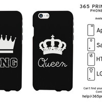 King and Queen Matching Couple Phone Cases - 365 Printing Inc