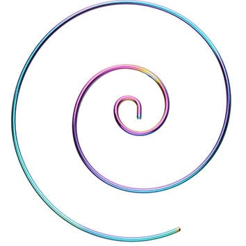 Large Colorline 316L Surgical Steel Spiral Coiled Earring