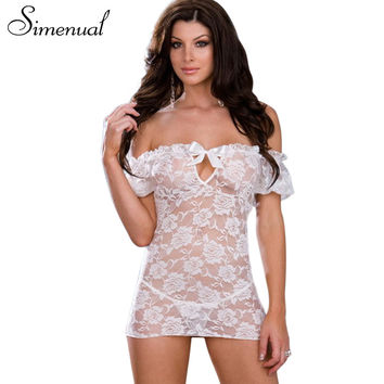 New 2013 black and white lace women's half slips with thongs off shoulder sheer sexy lingerie ladies slip dress free shipping
