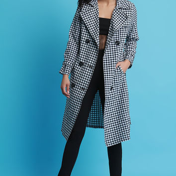Gingham Trench Coat | UrbanOG