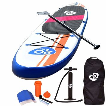 Goplus 10'Inflatable Stand Up Paddle Board SUP w/ Fin Adjustable Paddle Backpack