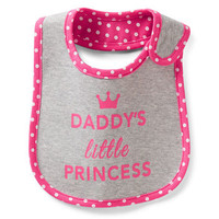 Daddy's Princess Teething Bib