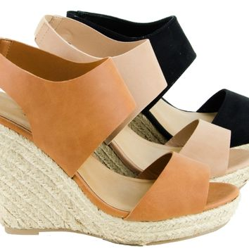 Womens Sandals Wedge Platform Espadrille Open Toe High Heel Sandal New