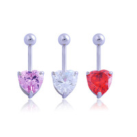 New Charming Dangle Crystal Navel Belly Ring Bling Barbell Button Ring Piercing Body Jewelry = 4661565764
