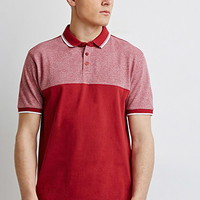 Colorblocked Piqué Polo