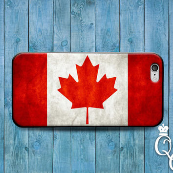 iPhone 4 4s 5 5s 5c 6 6s plus iPod Touch 4th 5th 6th Generation Red Leaf Canada Canadien Cool National Nation Flag Country Case Phone Cover