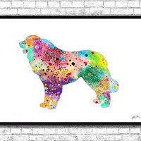 Great Pyrenees Watercolor Print Dog art Watercolor painting Dog print Dog watercolor Home Decor Children's room Wall decor Giclee wall art
