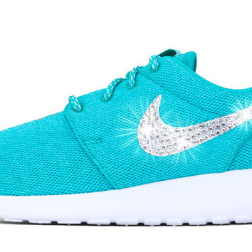 Nike Roshe One - Crystallized Swarovski Swoosh - Tiffany Blue