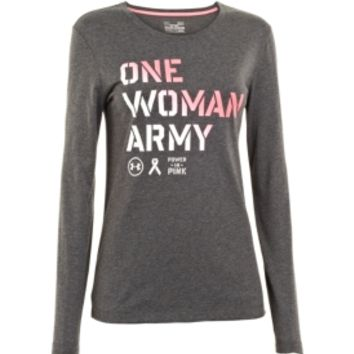 Under Armour Women's Power In Pink One Woman Army Long Sleeve Shirt - Dick's Sporting Goods