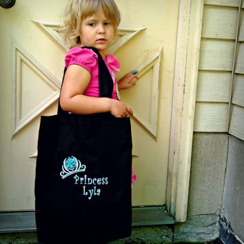 ON SALE Snowflake Princess tiara tote Bag - Embroidered - personalized